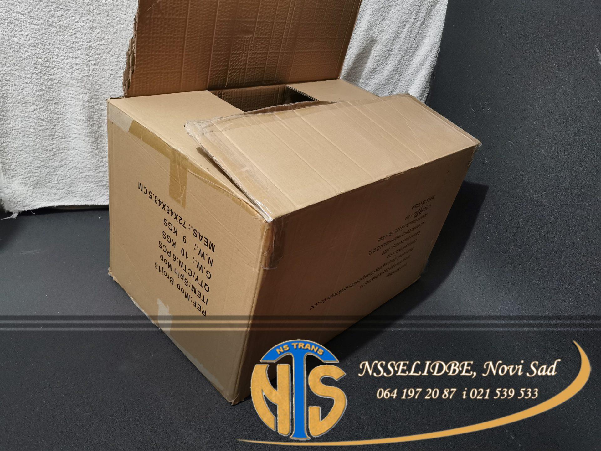 Kutije za selidbu-Selidbe Novi Sad